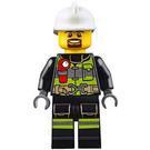 LEGO Fireman with Black Uniform Minifigure