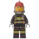 LEGO Fireman With Dark Red Helmet Minifigure