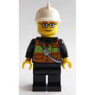 LEGO Fireman with Glasses Minifigure
