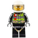 LEGO Fireman with Helmet and Sunglasses Minifigure