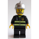 LEGO Fireman with Metallic Silver Helmet Minifigure