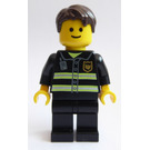 LEGO Fireman with Reflective Stripes and Golden Badge, Tousled Hair Minifigure
