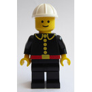 LEGO Fireman with White Construction Helmet Minifigure