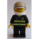 LEGO Fireman with White Helmet with Visor Minifigure