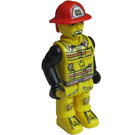 LEGO Fireman with White Moustache and 01 on Helmet Minifigure