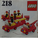 LEGO Firemen Set 218-1 Instructions