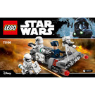 LEGO First Order Transport Speeder Battle Pack Set 75166 Instructions
