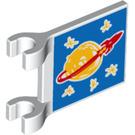 LEGO Flag 2 x 2 with Drawn space symbol (2335 / 33629)