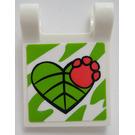 LEGO Flag 2 x 2 avec Heart Shaped Feuille et Paw Print Autocollant (2335)