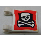 LEGO Flag 2 x 2 with Jolly Roger on Red Background Decoration (2335)