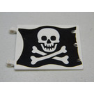 LEGO Flag 6 x 4 with 2 Clips with Jolly Roger on Black Background Decoration (2525)