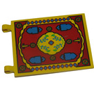 LEGO Flag 6 x 4 with 2 Connectors with Oriental Rug Pattern (2525)
