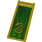 LEGO Flag 7 x 3 with Rod with Silver Snake (Slytherin) and Golden Lion (Gryffindor) (30292)
