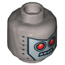 LEGO Flat Silver Robo SWAT with Nightvision Goggles Plain Head (Recessed Solid Stud) (16128)