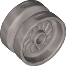 LEGO Flat Silver Wheel 18 x 12mm with Etched Rim (18976)