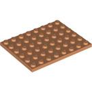 LEGO Flesh Plate 6 x 8 (3036)