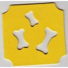 LEGO Foam Part Scala Dog Mat with 3 Bone Cutouts