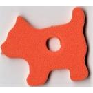 LEGO Foam Part Scala Dog with Center Hole