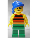 LEGO Forbidden Cove Pirate with Red and Black Striped Shirt Minifigure