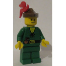 LEGO Forestman with Brown Hat and Red Feather Plume Minifigure