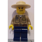 LEGO Forrest Police Officer with Angry Face Minifigure