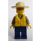 LEGO Forrest Police Officer with Orange Glasses and Life Jacket Minifigure