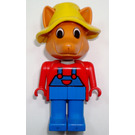 LEGO Freddy Fox 1987 Version with Yellow Hat Fabuland Minifigure
