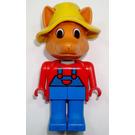 LEGO Freddy Fox with Yellow Hat Fabuland Figure