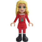 LEGO Friends Advent Calendar Set 3316-1 Subset Day 6 - Christina, Red Christmas Outfit