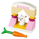 LEGO Friends Advent Calendar Set 41102-1 Subset Day 12 - Stand, Bunny Rabbit, and Carrot