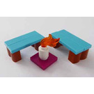 LEGO Friends Advent Calendar Set 41102-1 Subset Day 17 - Benches and Candle