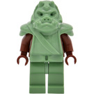 LEGO Gamorrean Guard Minifigure with sand green hips, reddish brown arms