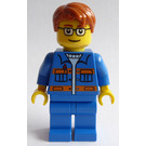 LEGO Garage Worker with Blue Jacket Minifigure