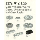 LEGO Gear Wheels, Worm Gears and Racks, Universal Joints Set 5276