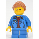 LEGO Girl, Denim Jacket, Blue Short Legs Minifigure