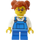 LEGO Girl in Blue Overalls Minifigure