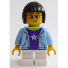 LEGO Girl in Bright Light Blue Jacket Minifigure