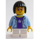 LEGO Girl in Bright Light Blue Jacket Minifigure