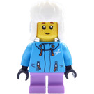 LEGO Girl in Dark Azure Jacket Minifigure
