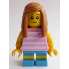 LEGO Girl in Pink Striped Shirt Minifigure