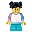LEGO Girl dans Shirt avec Unicorn Figurine