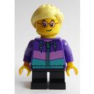 LEGO Girl with Dark Purple Jacket Minifigure