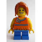 LEGO Girl with Orange Flowery Blouse Minifigure