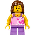 LEGO Girl with Pink Halter Top with Butterflies Minifigure
