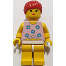LEGO Girl with pink shirt and red hair Minifigure