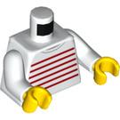 LEGO Girl with Striped Shirt Minifig Torso (973 / 76382)