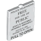 LEGO Glass for Frame 1 x 2 x 2 with Police Telephone Box Decoration (24413)