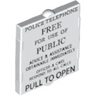 LEGO Glass for Frame 1 x 2 x 2 with Police Telephone Box Decoration (24413 / 60601)
