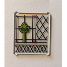 LEGO Glass for Frame 1 x 3 x 3 with Stained Glass Lines and Tulip Pattern Sticker (51266)
