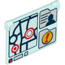 LEGO Glass for Window 1 x 4 x 3 Opening with Decoration (16566 / 60603)
